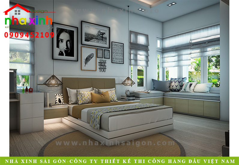 Phòng ngủ biệt thự 3 tầng hiện đại | Chị Linh. Ảnh 5