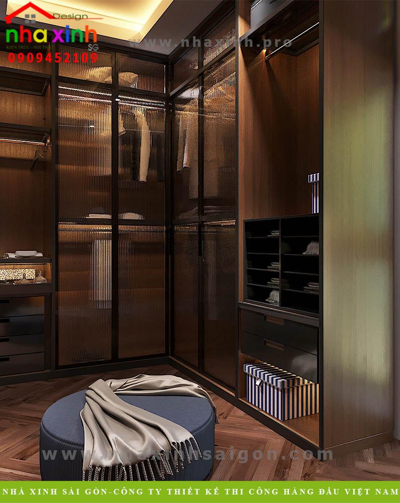 Nội thất phòng ngủ biệt thự 3 tầng mái bằng