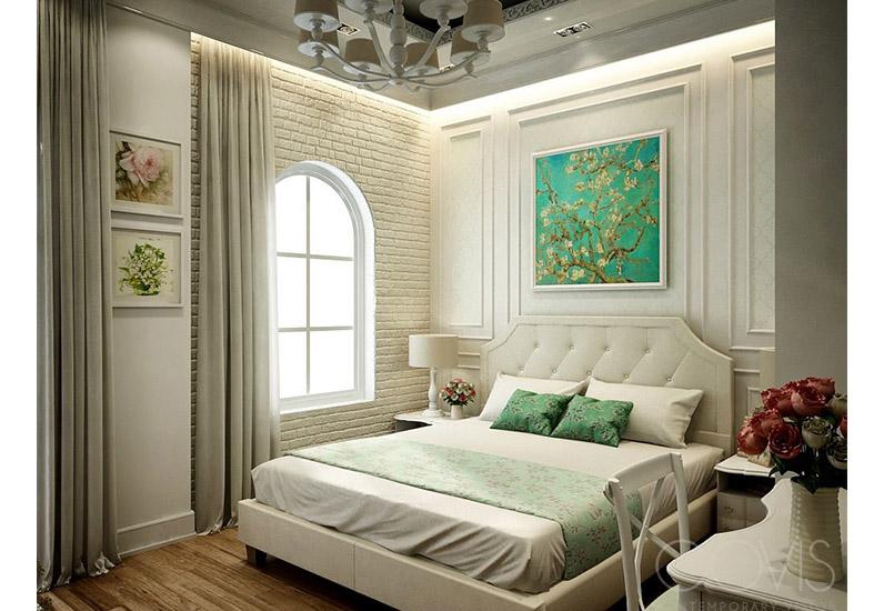 Nội thất phòng ngủ biệt thự nghỉ dưỡng tân cổ điển