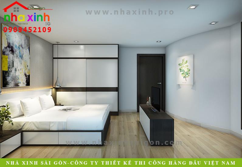 Thiết kế nội thất phòng ngủ biệt thự 3 tầng