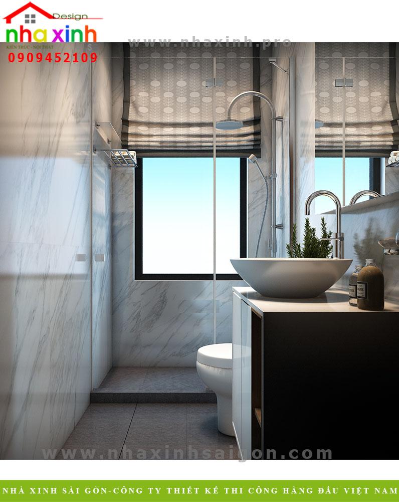Phòng tắm biệt thự hiện đại 3 tầng 2 mặt tiền. Ảnh 2