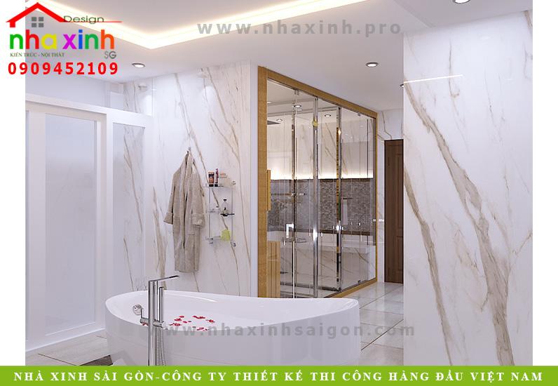 Thiết kế phòng tắm riêng cho căn biệt thự