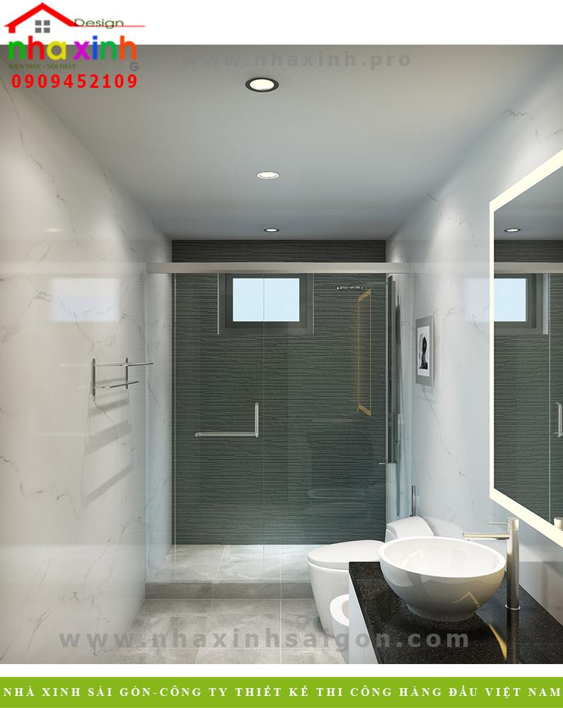 Phòng vệ sinh biệt thự 3 tầng hiện đại  Chị Phương. Ảnh 2