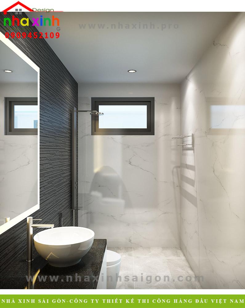 Phòng vệ sinh biệt thự 3 tầng hiện đại  Chị Phương. Ảnh 3