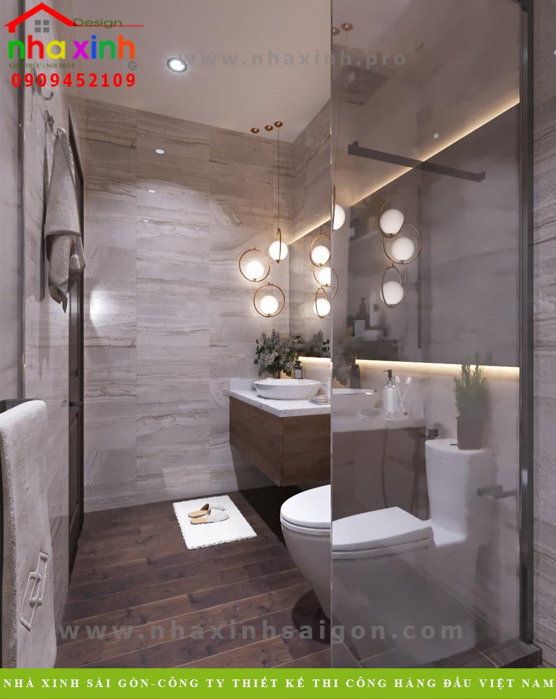 Thiết kế phòng tắm & vệ sinh của biệt thự tân cổ điển