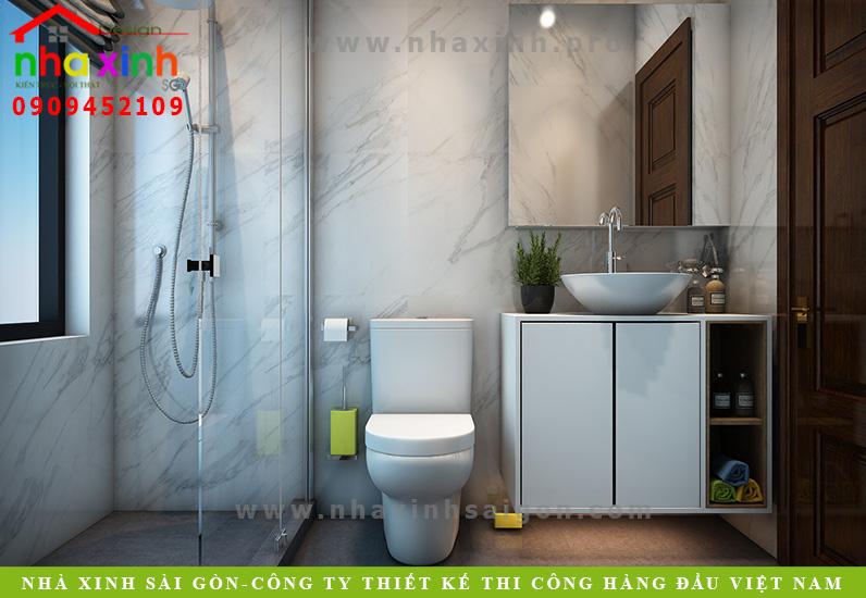 Thiết kế phòng tắm biệt thự hiện đại 2 mặt tiền