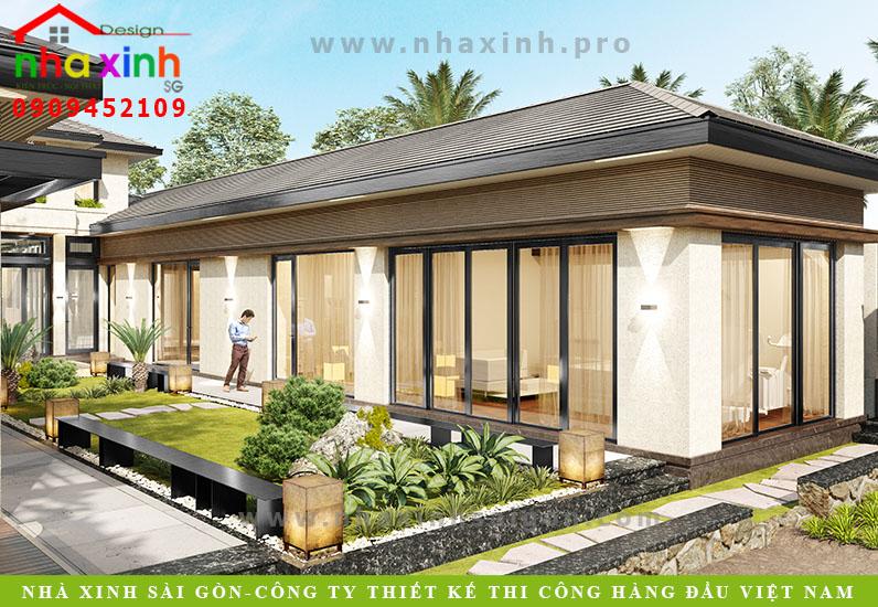 Dự án thiết kế Resort  Mini công ty Nhà Xinh