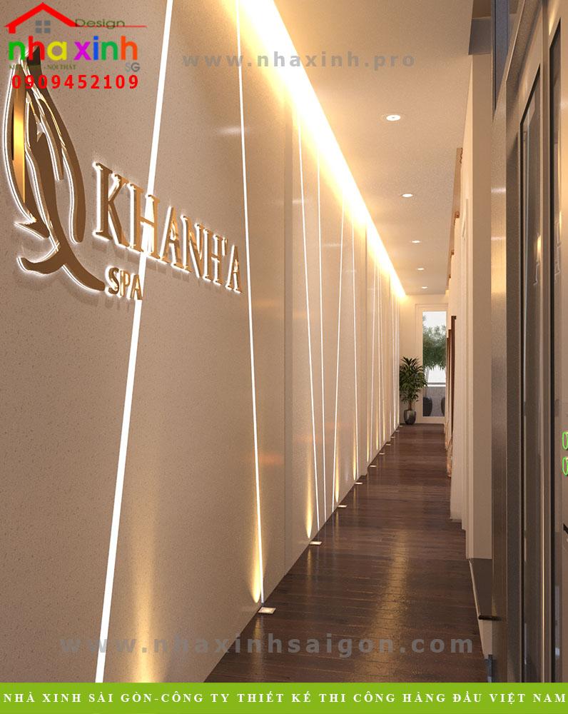 Thiết kế Spa hàng lang tầng 1