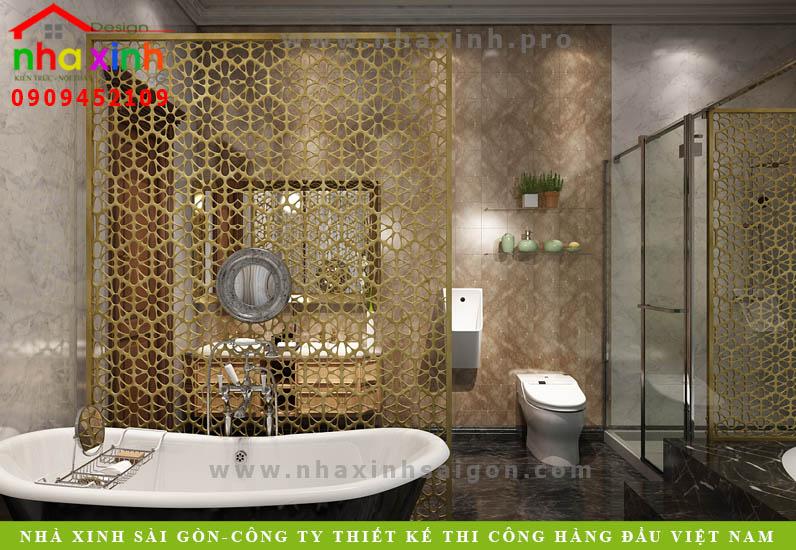 Nội thất phòng tắm của căn biệt thự cổ điển