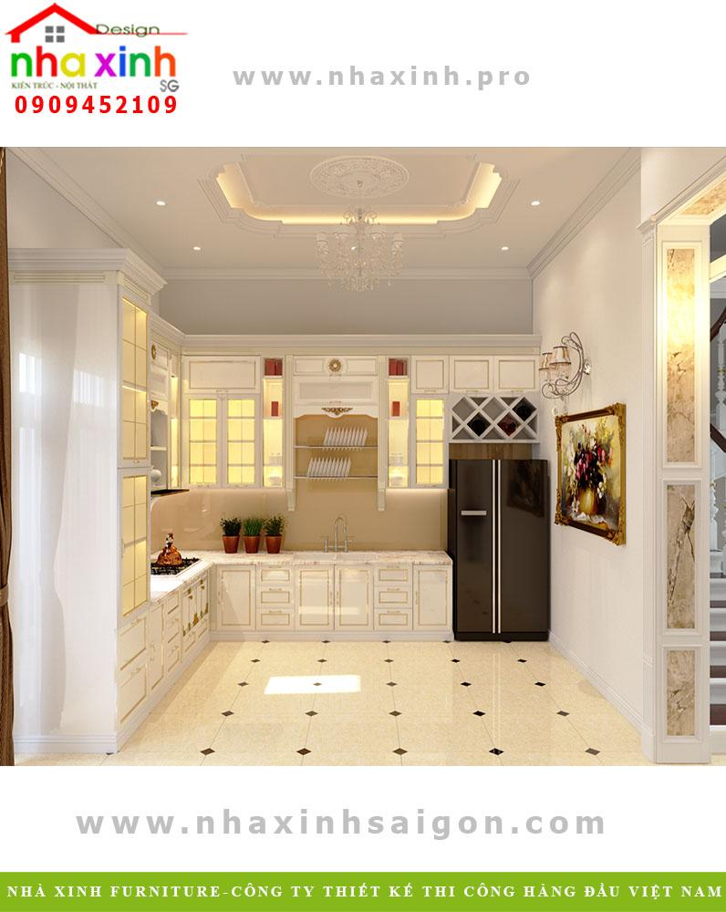 Thiết kế phòng bếp biệt thự phố