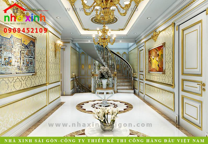 Thiết kế hành lang biệt thự cổ điển | Chị Kim Anh. Ảnh 1