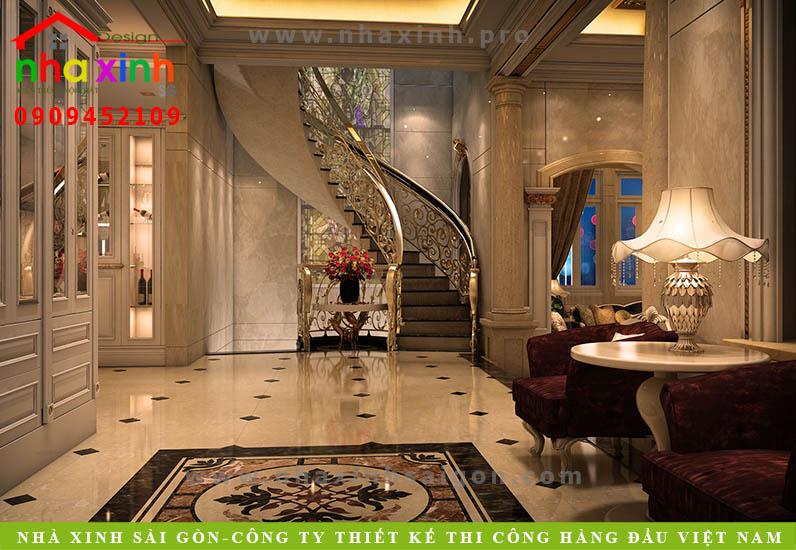 Thiết kế hành lang biệt thự cổ điển | Chị Kim Anh. Ảnh 3