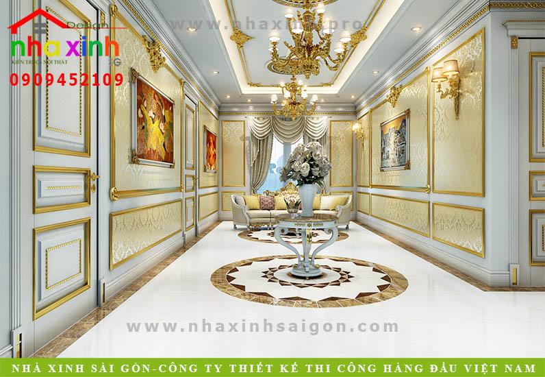 Thiết kế hành lang biệt thự cổ điển | Chị Kim Anh. Ảnh 4