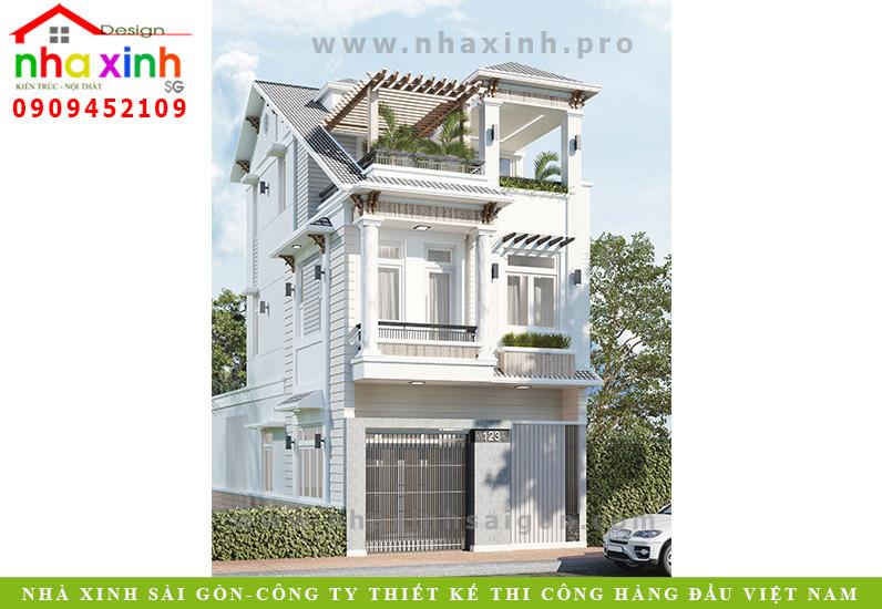 Nhà Phố Cổ Điển 3 Tầng Ngang 6,5m | Anh Duy |Bình Tân | NP-157