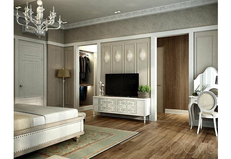 Nội thất phòng ngủ Master biệt thự nghỉ dưỡng tân cổ điển