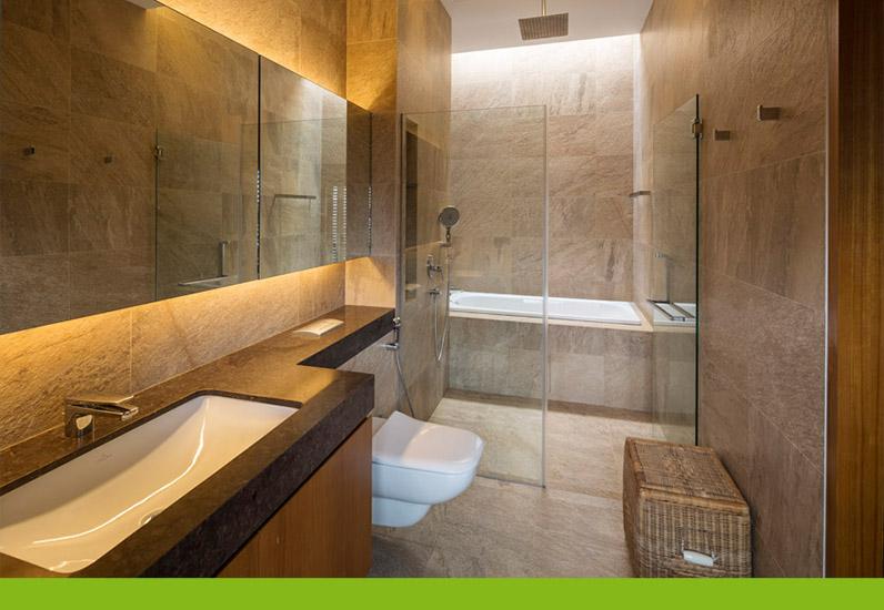 Nội thất phòng tắm biệt thự nghỉ dưỡng