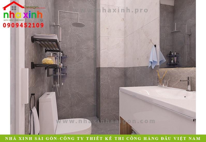Thiết kế phòng tắm của ngôi nhà phố hẻm