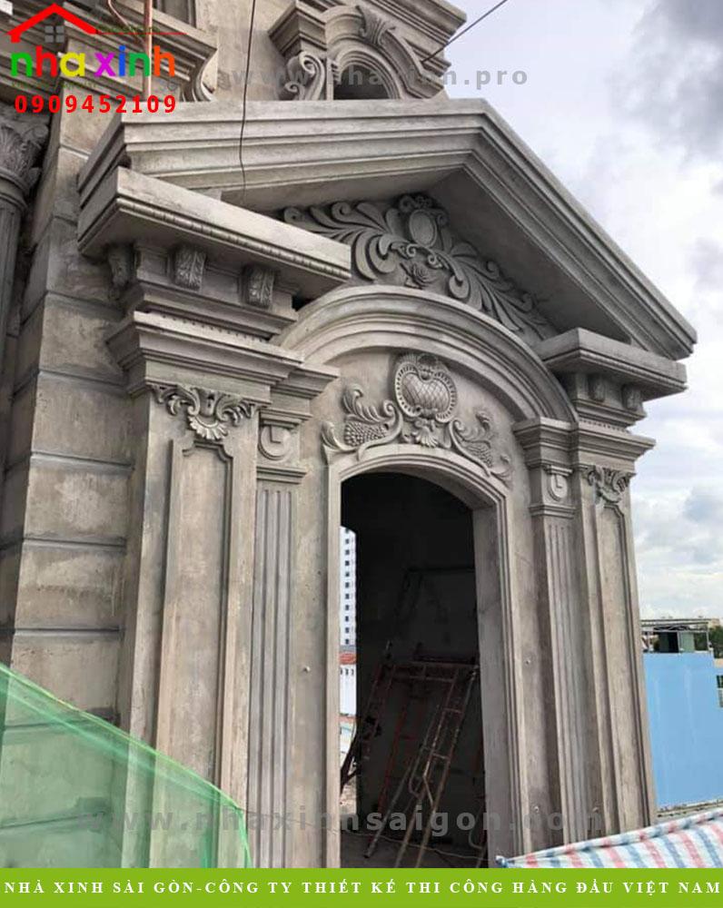 Hình ảnh thi công biệt thự cổ điển
