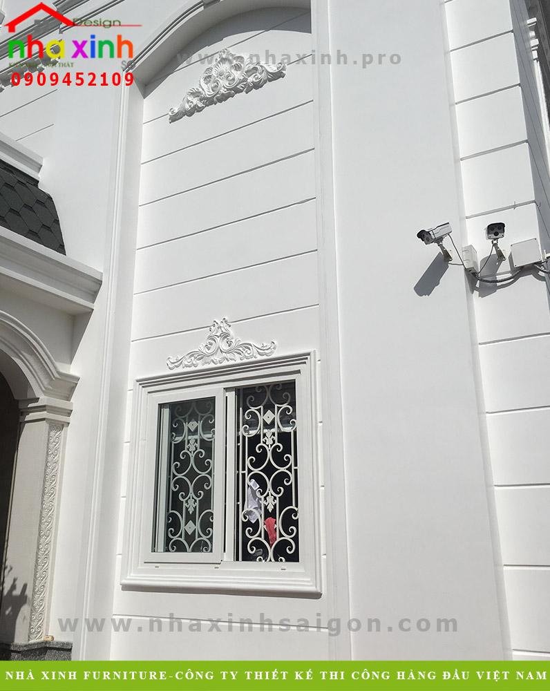 Hình ảnh thi công hoàn thiện biệt thự cổ điển phong cách Châu Âu
