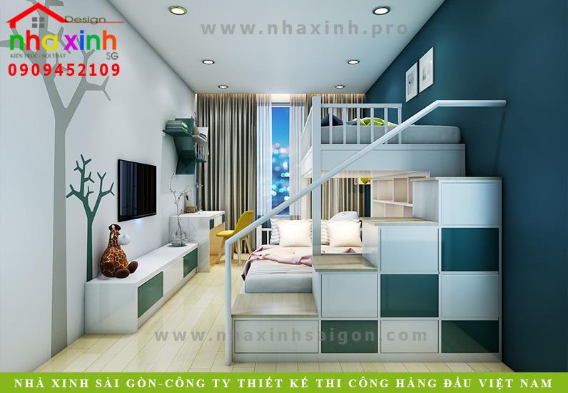 Thiết kế phòng ngủ của căn biệt thự vườn 2 tầng