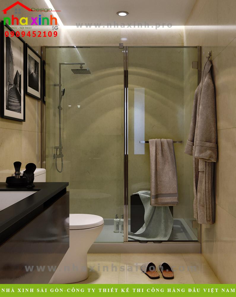 Thiết kế phòng vệ sinh lầu 3 biệt thự 4 tầng