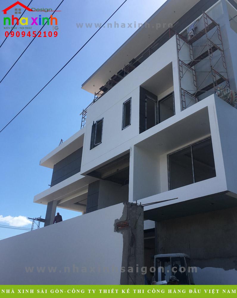 Những hình ảnh về thi công dự án biệt thự 3 tầng