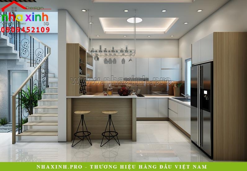 Nội thất phòng bếp nhà phố hiện đại