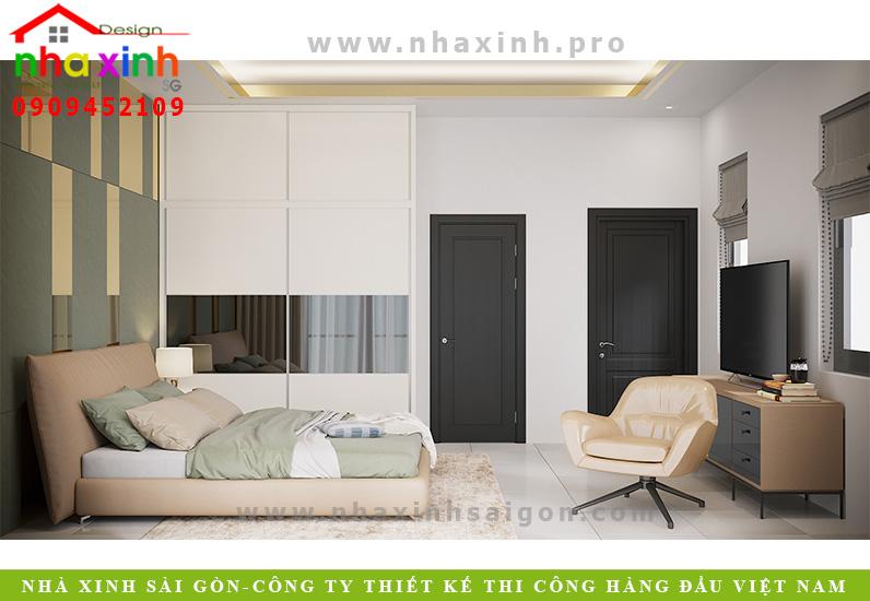 Nội thất phòng ngủ biệt thự vườn 3 tầng