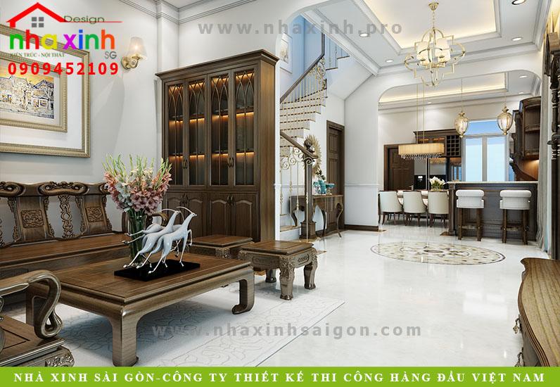 Mẫu Nội Thất Cổ Điển Tone Gỗ   Chị Hương   Lakeview   NT-158