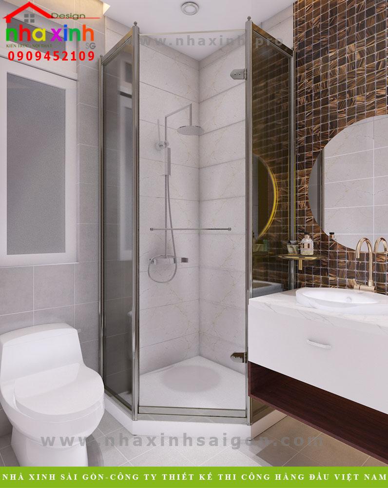 Nội thất phòng tắm nhà phố sang trọng