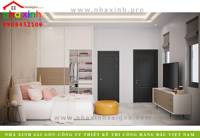 Nội thất phòng ngủ con gái biệt thự vườn 3 tầng