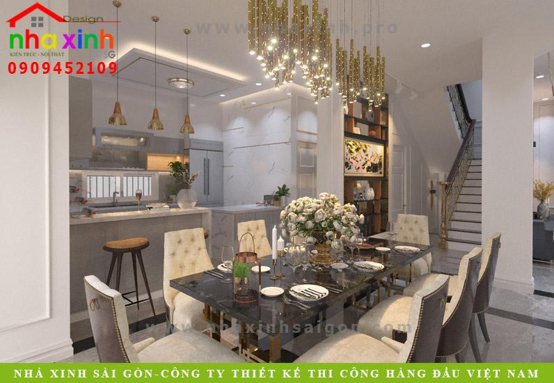 Thiết kế phòng bếp biệt thự quận 7