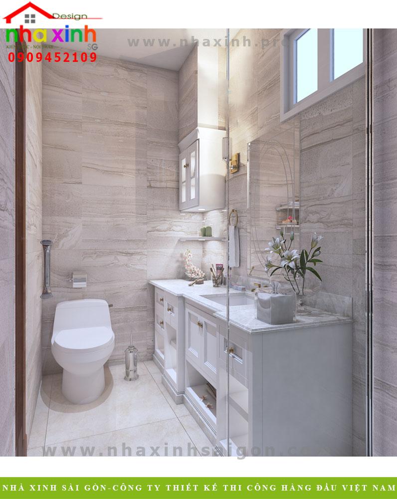 Nội thất phòng tắm của biệt thự hiện đại khu rio vista Quận 9