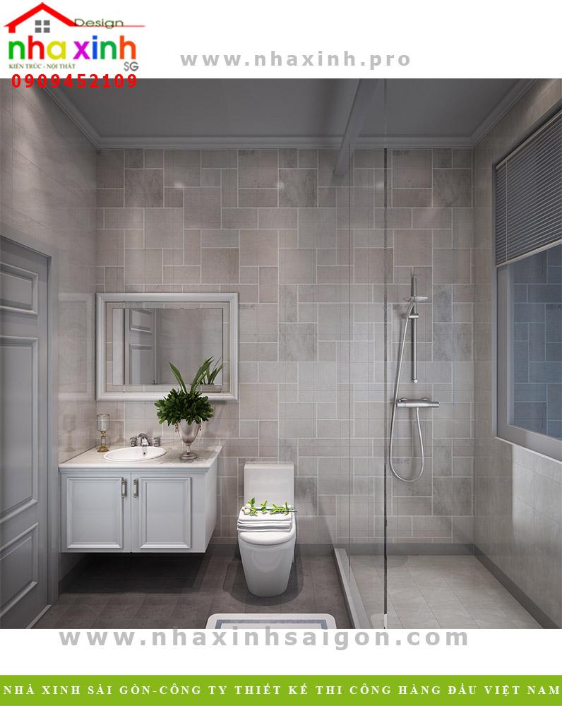 Thiết kế phòng tắm biệt thự tân cổ điển 3 tầng
