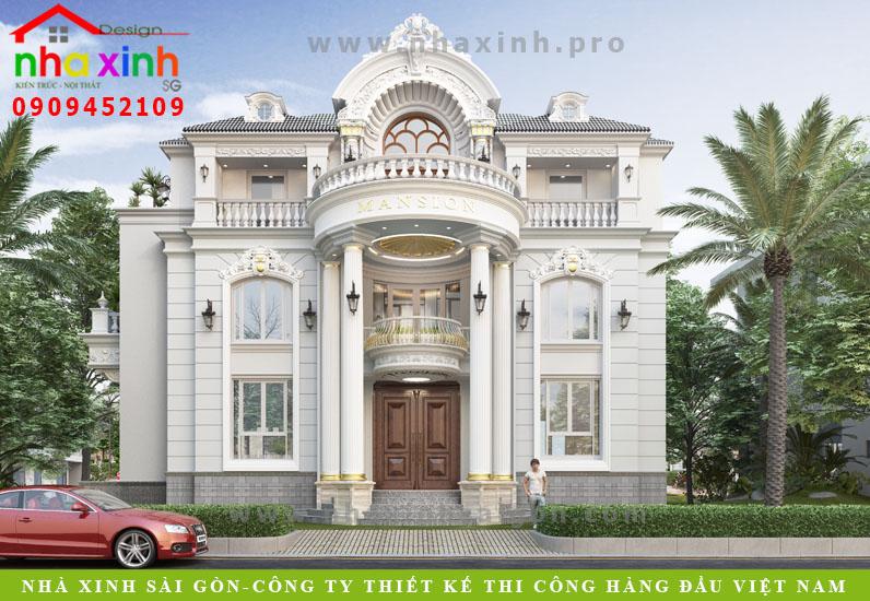 Mẫu Dinh Thự Chateau Phong Cách Bán Cổ Điển | Chị Loan | BT-169