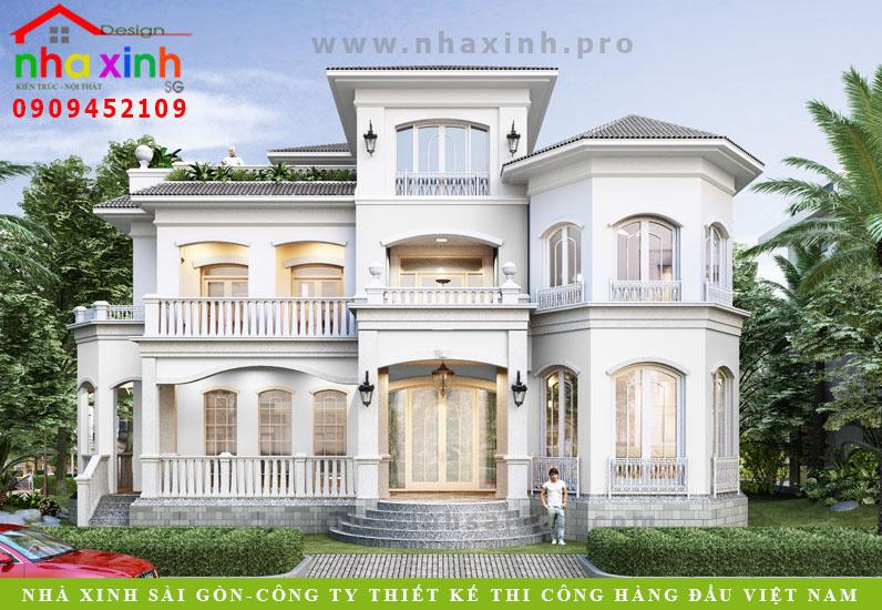 Thiết Kế Biệt Thự Phú Gia Phú Mỹ Hưng 350 Triệu | BT-171