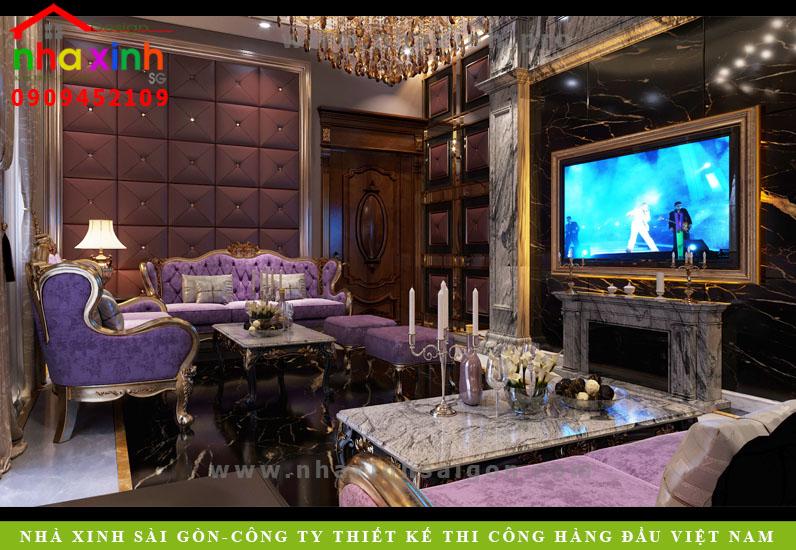 Nội thất phòng karaoke biệt thự cổ điển 50 tỷ