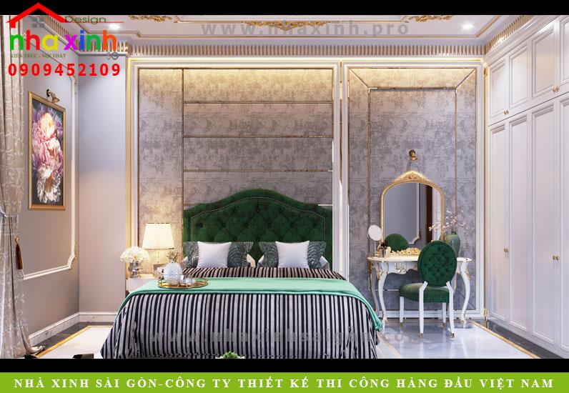 Nội thất phòng ngủ dịnh thự cổ điển