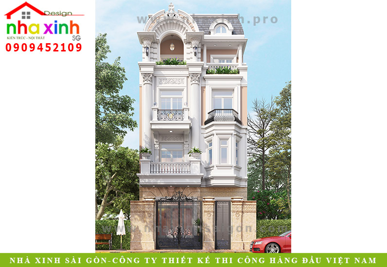 Nhà Phố Đẹp 3 Tầng Cổ Điển | Bác Khu | Phú Nhuận | NP-155