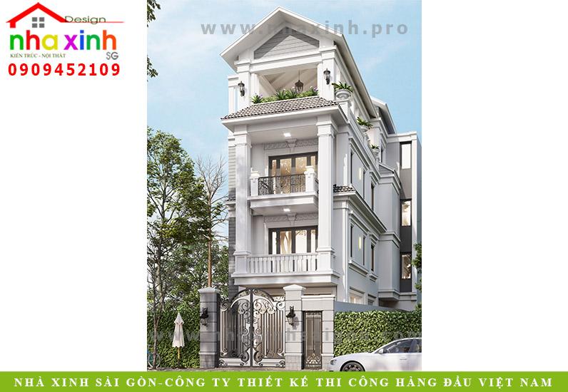 Mẫu Nhà Phố Đẹp Cổ Điển 3 Tầng | Chị Quang | Gò Vấp | NP-143