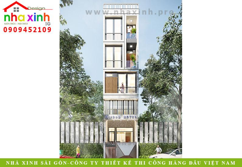 Mẫu Thiết Kế Nhà Phố 4 Tầng Làm Văn Phòng | Anh Kiệt | Quận 2 | NP-202