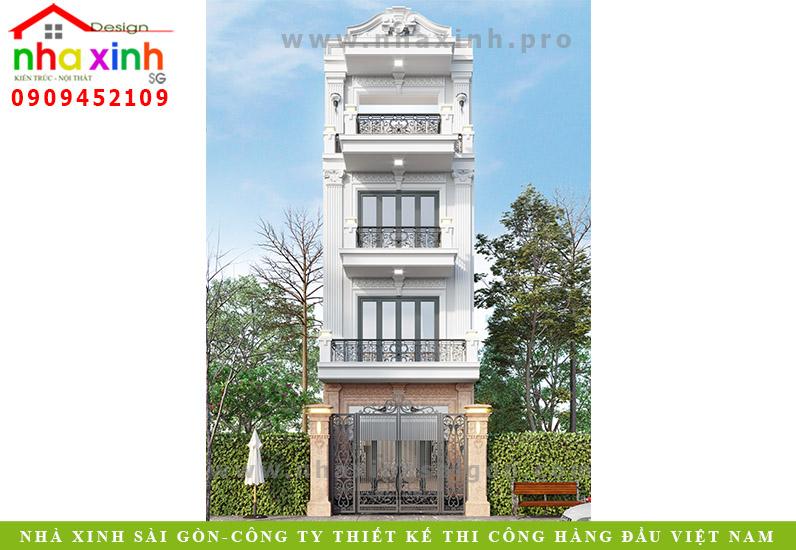 Nhà Phố Cổ Điển 4 Tầng 4 Phòng Ngủ | Anh Đông | Quận 12 | NP-192