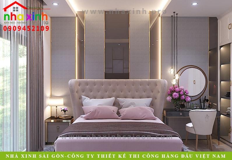 Thiết kếnội thất phòng ngủ nhà phố cổ điển