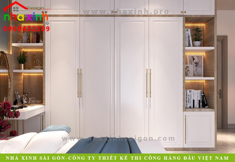 Thiết kế nội thất phòng ngủ nhà phố cổ điển