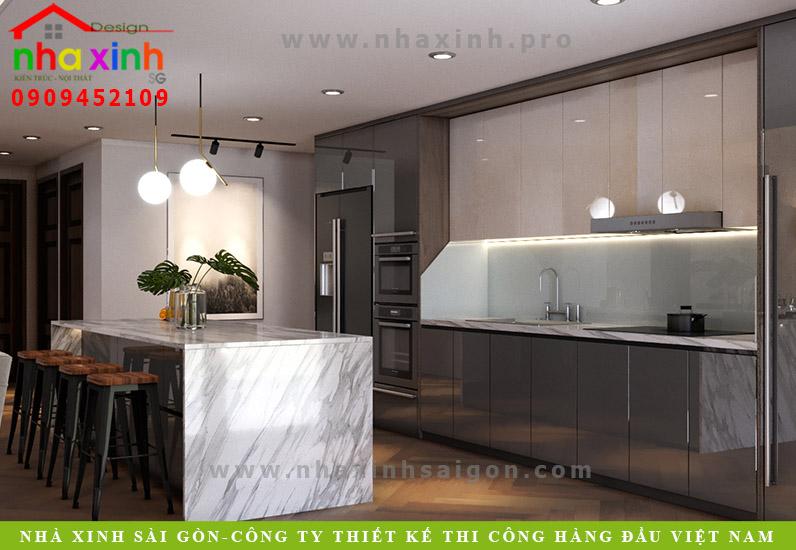 Thiết kế nội thất phòng bếp tầng 1