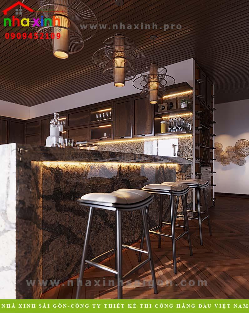 Thiết kế phòng bếp tầng 3