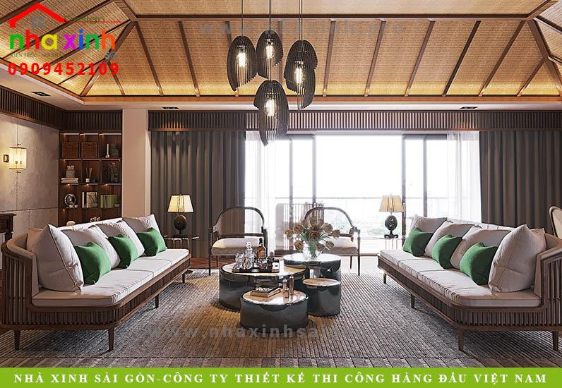 Thiết kế nội thất phòng khách tầng 3