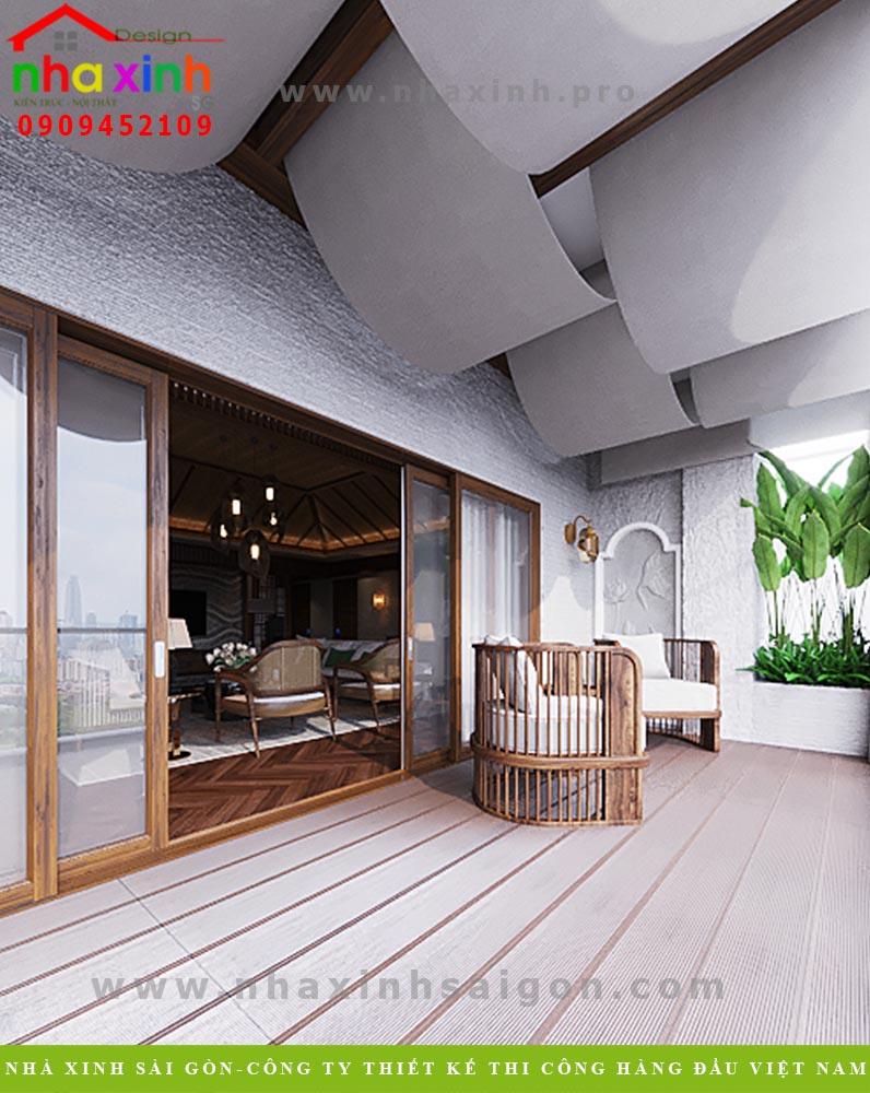 Thiết kế nội thất ban công