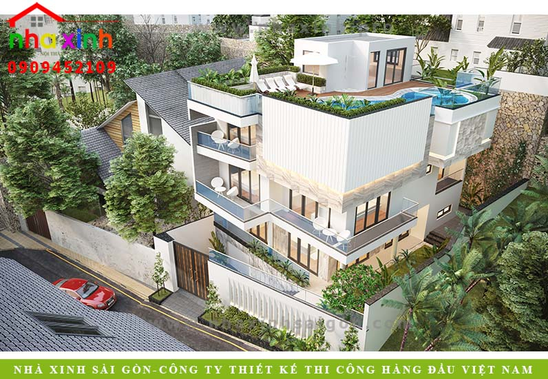 Thiết kế biệt thự vườn phải đảm bảo công năng và hài hòa với thiên nhiên