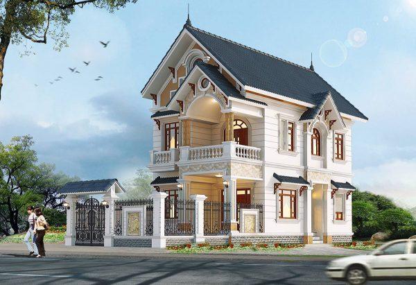 Biệt thự mini 2 tầng phong cách mái thái